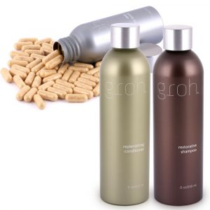 GROH set (shampoo 240ml, conditioner 240ml, capsuls 60 csp)-0