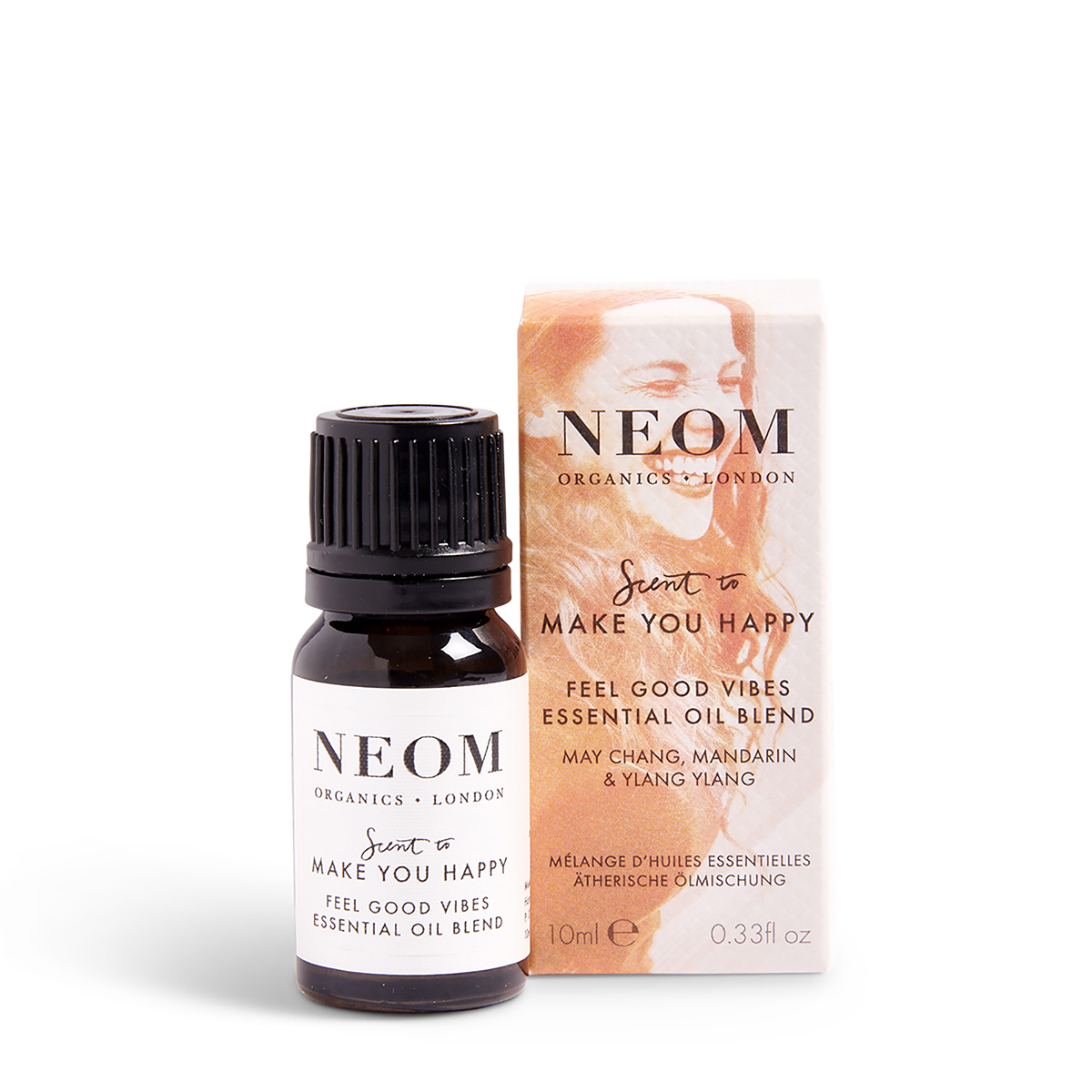 Feel Good Vibes Essential Oil Blend Neom Organics, home fragrance from Beautiful Brands