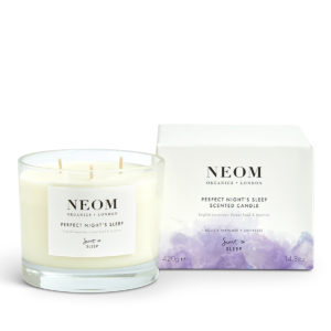 Perfect Nights Sleep Scented Candle Neom Organics, home fragrance from Beautiful Brands